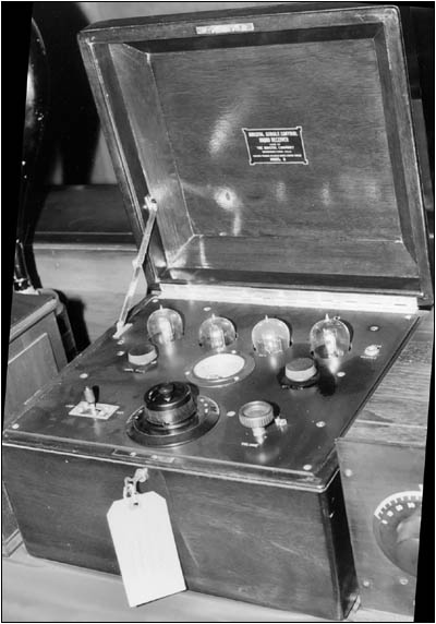 "Bristol ""single control radio receiver"""