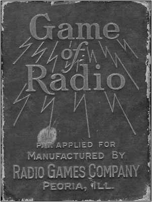 The box for the Game of Radio card deck