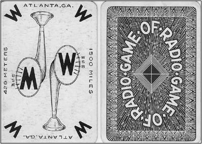The front and back of typical playing cards