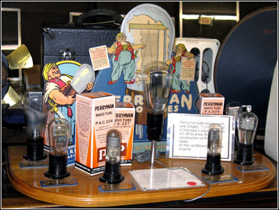 Perryman vacuum tube advertising display