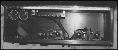 A view of the internal workings of the Haynes-Griffin Dx receiver