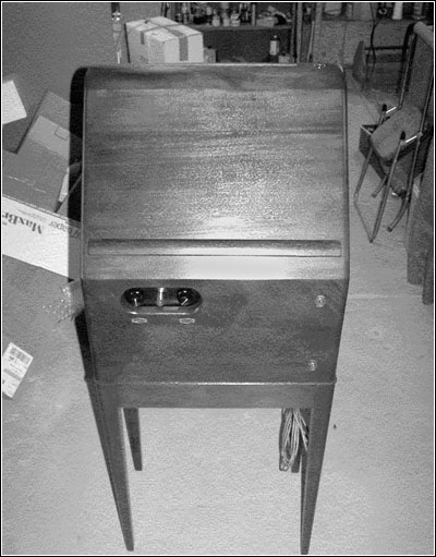 A front view of the restored Theremin.