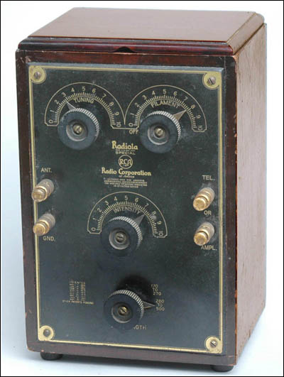 very rare example of a Radiola Special one-tube receiver