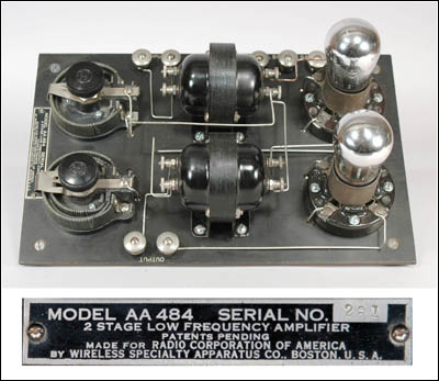 Wireless Specialty AA-484 2 Stage Low Frequency Amplifier