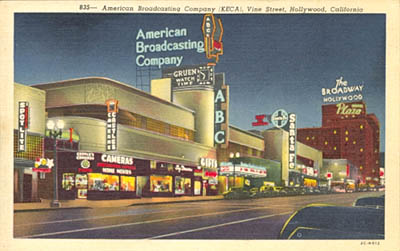 American Broadcasting company (KECA), Vine Street, Hollywood, California.