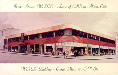 Radio Station WADC = Home of CBS in Akron, Ohio.