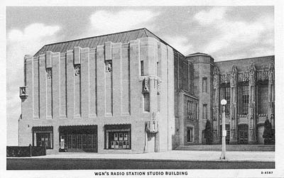 W-G-N's Radio Station Studio Building