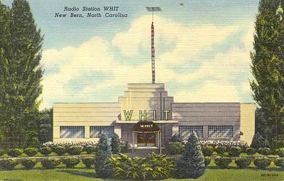 Radio Station WHIT, New Bern, North Carolina.