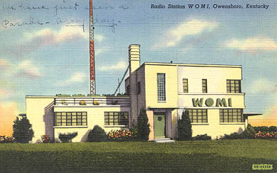 Radio Station WOMI, Owensboro, Kentucky.