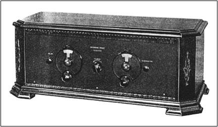 A Browning-Drake radio in a Corbett cabinet