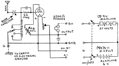 Crosley Model 50 circuit diagram