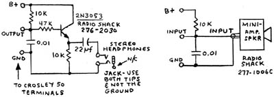 The emitter-follower impedance transformer diagram