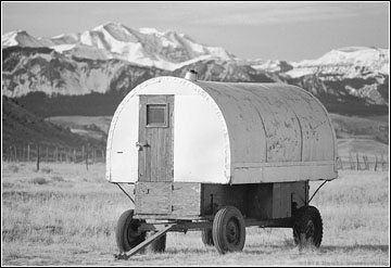 A typical Wyoming ranch sheep wagon
