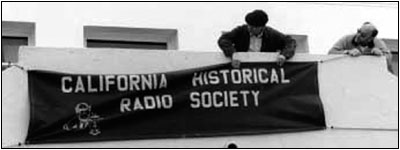 putting up the Society's banner
