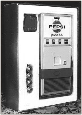 The Pepsi radio in its neatly fitted box