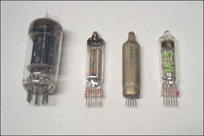 The radio's miniature tubes