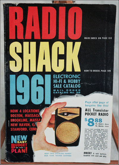 The cover of Radio Shack's 1961 catalog