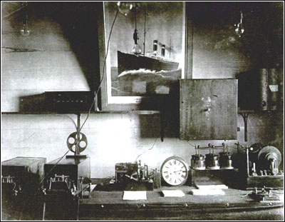 photo of the original wireless station equipment