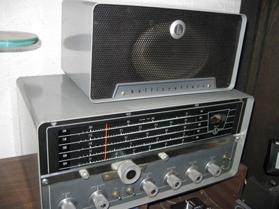 Hallicrafters SX-111 communications receiver and R-48 speaker