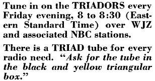 Triad tube ad