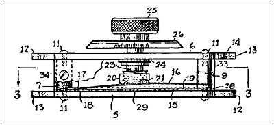 Patent drawing of Gernsback's compression condenser