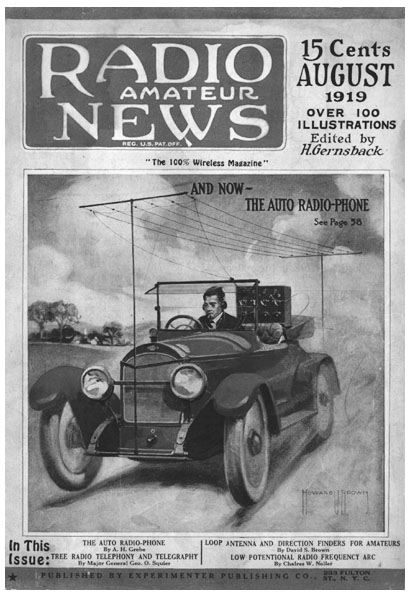 "Cover of the August 1919 ""Radio Amateur News"""
