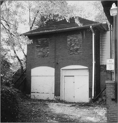 The Conrad Garage prior to disassembly.