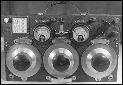 The 5-watt Coast Guard Model T-22 (RT-80A) portable transmitter unit
