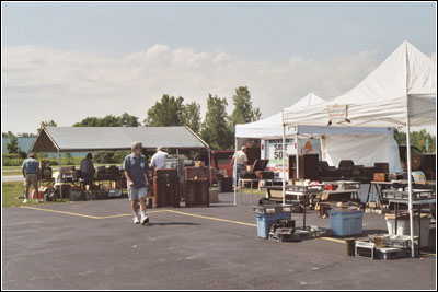 Opening day for the flea market