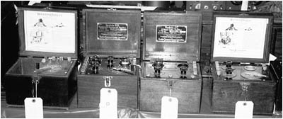 lineup of early Westinghouse and RCA Radiolas