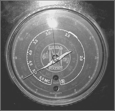 The tuning dial for the Fada 290C