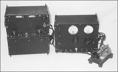 Transmitter, key and receiver were used by Admiral Byrd