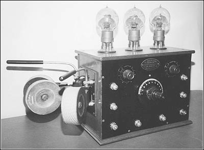 A Martin French 3 tube receiver with adjustable coils.