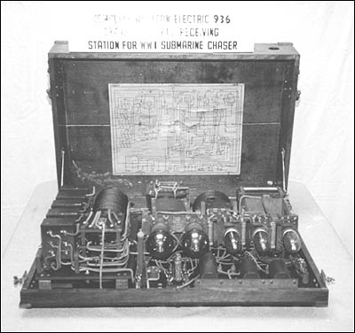 A World War I Western Electric 936 transmitter and receiver.