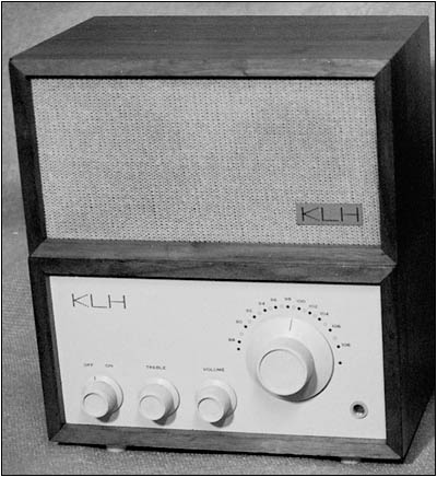 The KLH Model Eight mono-FM receiver and its speaker