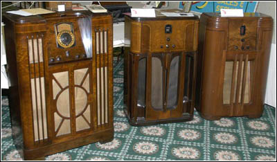 Three imposing Philco consoles