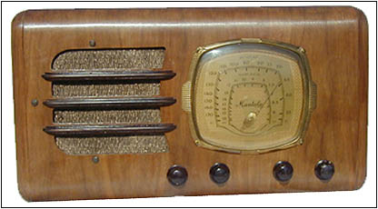 The restored B.F. Goodrich Model R-422 Mantola farm radio