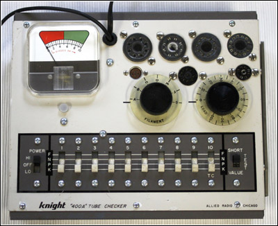 The Knight Kit 400A service-type tube tester