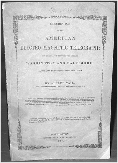 Description of The American Electro-Magnetic Telegraph