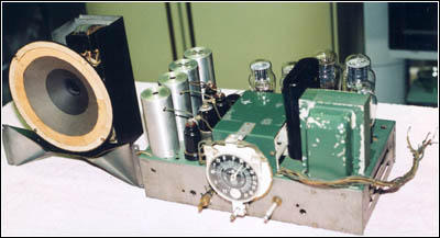 The 10-inch chassis and 2-way speaker system used in the Model 88