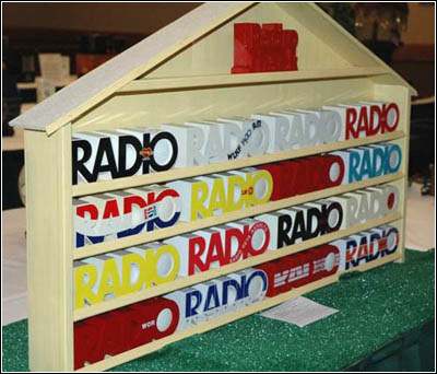 A display of novelty RADIO receivers