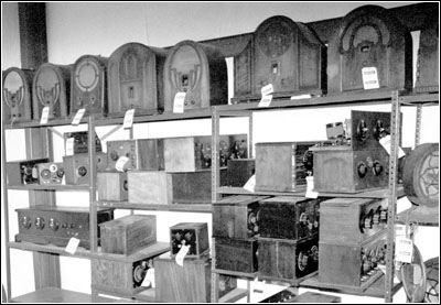 selection of radios, cathedrals and battery sets