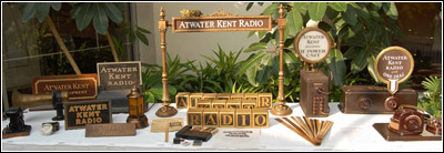 Sales promotion items in the special exhibit of Atwater Kent Radio