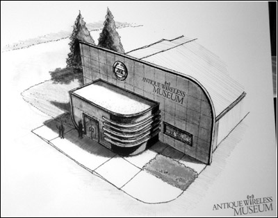 proposed entrance to the new Antique Wireless Museum