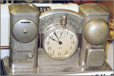 """the first electric alarm clock."""