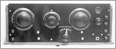 The panel of an inductive feedback radio