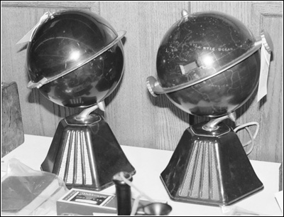A pair of Colonial Globe radios