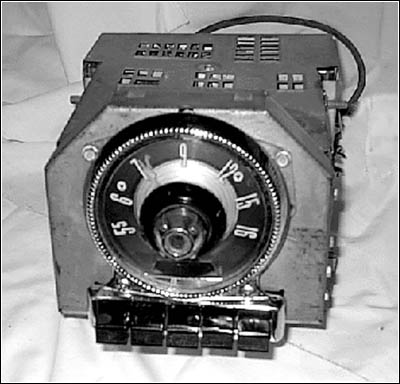 A front view of the radio