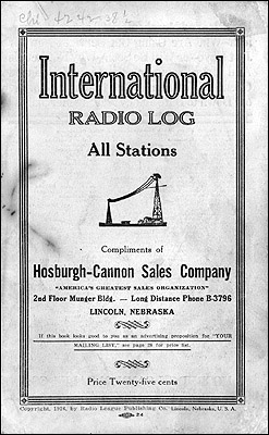 "The cover of the 1926 ""International Radio Log."""