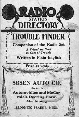 The cover of a 1925 radio station directory